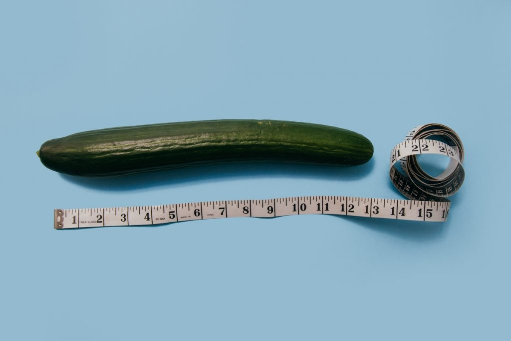 Cucumber and measuring tape
