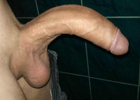 curved penis pic from aside